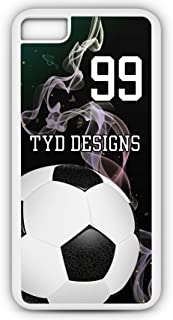 iPhone Tough Case Fits Models 8 or 7 Create Your Own Soccer SC1017 with Player Jersey Number and/Or Name Or Team Name Customizable by TYD Designs in Tough White