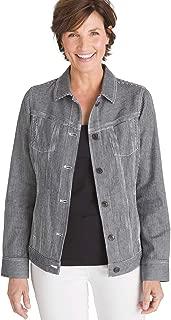 Chico's Women's Railroad Stripe Denim Jacket