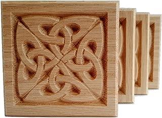 Set of 4:Carved Celtic