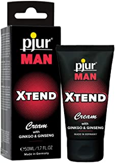 pjur MAN Xtend Cream - Erektionskräm för män som vill ha mer - ginkgo- och ginsengextrakt förlänger härliga lekar (50ml)
