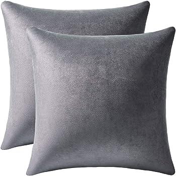 DEZENE Light Brown Pillow Cases: 2 Pack