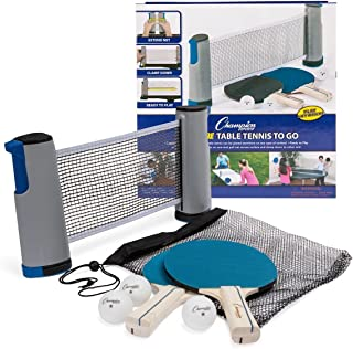 Champion Sports AWTSET Anywhere Table Tennis: Ping Pong Paddles, Balls, and Portable Net..