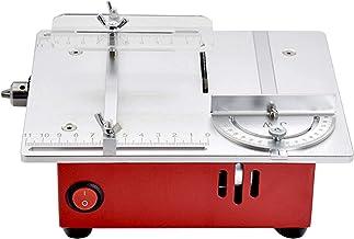 Sierra de mesa portátil de sobremesa, Mini mesa de sierra de mesa, sierras de mesa para carpintería con mesa deslizante, 9200RPS, elevador de corte de energía baja con interfaz de vacío, para cortar m