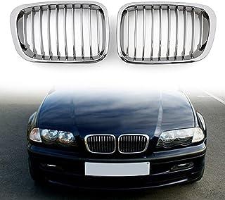 Noir mat free size Matte Black 1 paire de grilles avant pour BMW E46 2002-2004