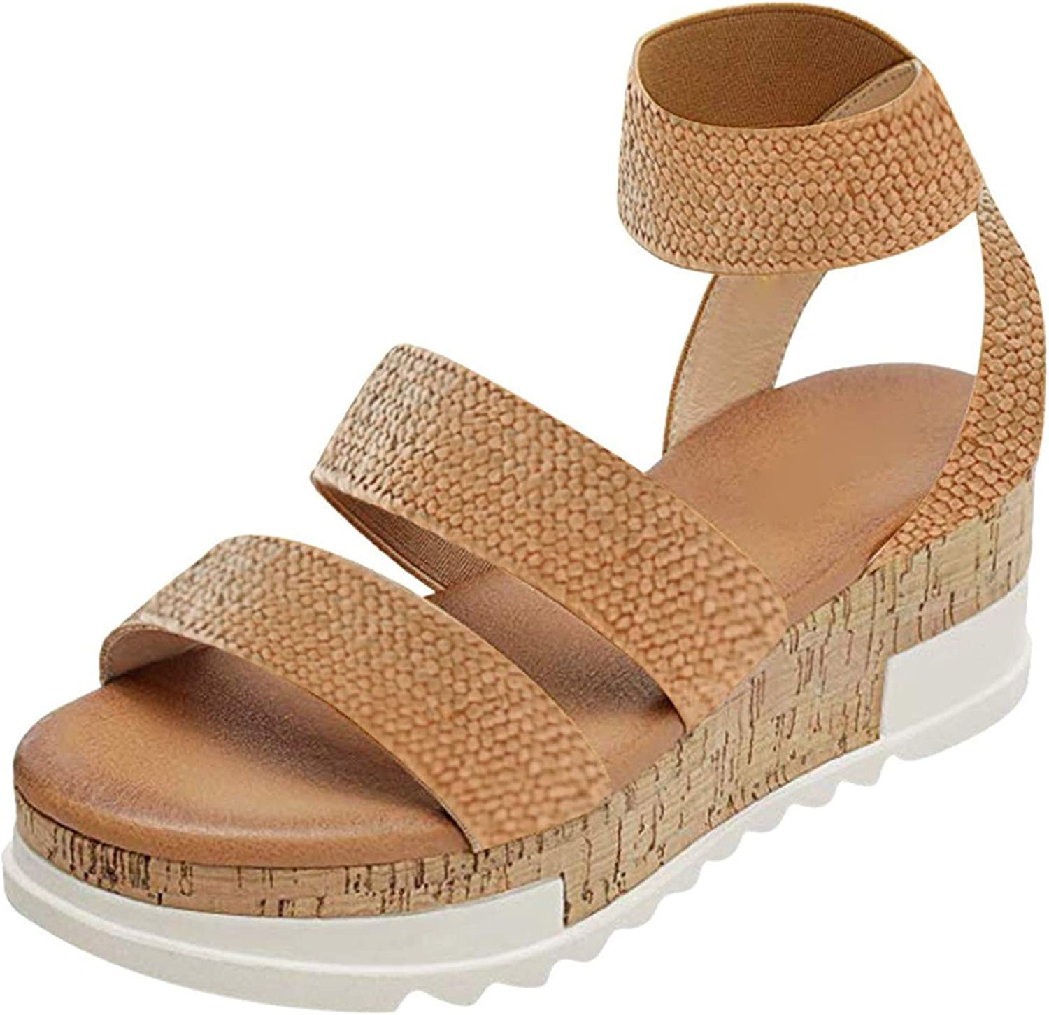Max Year-end gift 40% OFF Padaleks Women's Strappy Espadrille Platform Sandals Ankle Wedge