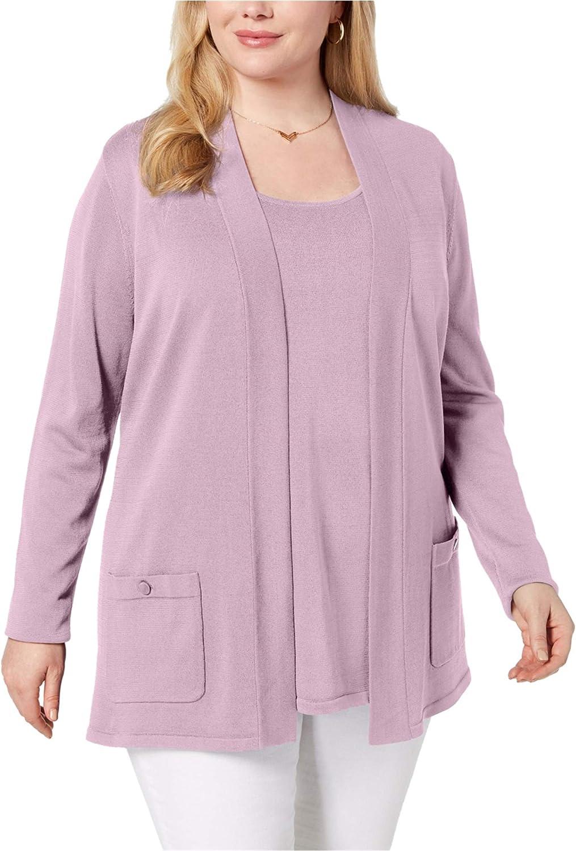 Anne Klein Womens 2 Piece Set Cardigan Sweater