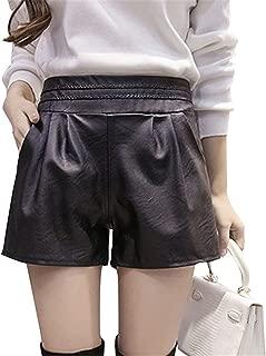 Ivan Johns 2018 Women Elastic Waist PU Leather Black Shorts Female Celebrity Same Loose Fashion Women Casual Shorts Plus Size