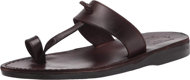 Jerusalem Sandals Mens Nathan Black Quality inspection Le Durable Real Over item handling Handcrafted