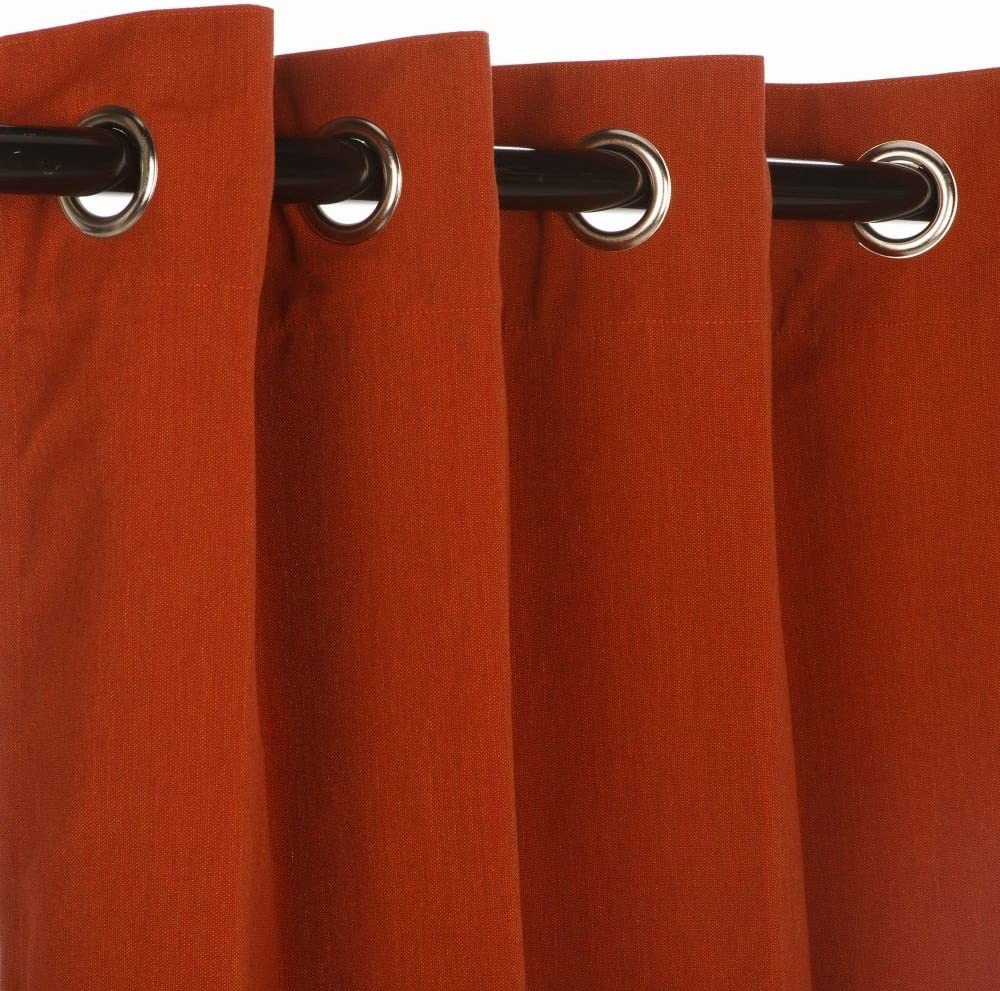 Sunbrella Outdoor Max 57% OFF Canvas Curtain Grommets Limited price sale with