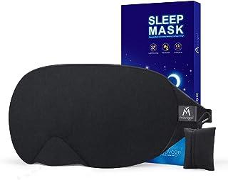 Cotton Sleep Eye Mask - 2018 New Design Light Blocking Sleep Mask, Includes Travel Pouch, Soft, Comfortable, Blindfold, 10...
