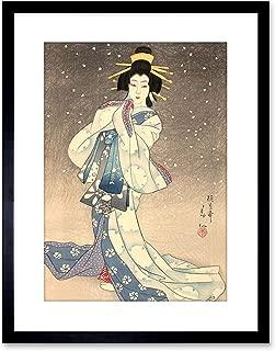 The Art Stop Painting Geisha Kabuki Natori SHUNSEN Theatre Japan Framed Print F97X3140