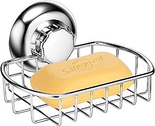 MaxHold ソープホルダー ソープディッシュ 石鹸置き スポンジ置き スポンジホルダー スポンジラック 吸盤 ステンレス 錆び防止