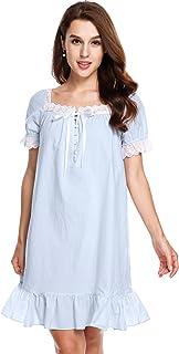 Avidlove Womens Cotton Victorian Vintage Short Sleeve Martha Nightgown Sleepwear