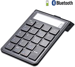 PROODI Chargeable Bluetooth Numeric Keypad and Calculator 2-in-1, Wireless Number Pad Keyboard with 12-Digit LCD Display for Laptop Computer Apple, Windows OS, Mac OS, Chrome OS, 00 Version