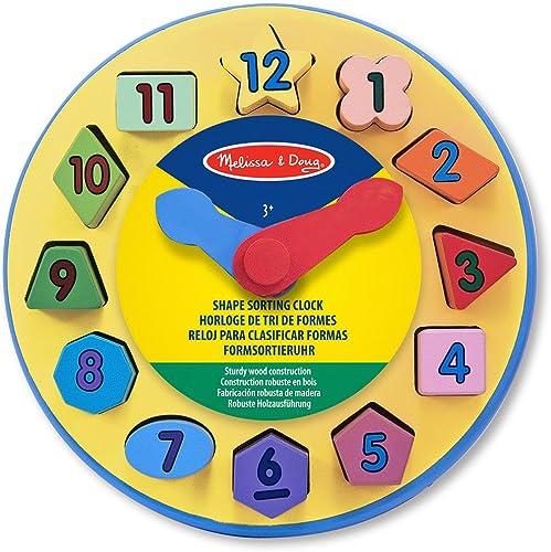 Todo en alta calidad y bajo precio. Melissa & & & Doug - Reloj para clasificar formas (10159)  moda