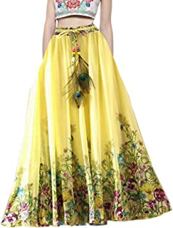 790023a20a Shoponbit Presents Royal creape Yellow Skirt for Women in Ethnic wear BC2