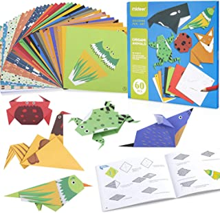 Origami Paper for Kids - Colorful Vivid Origami Kit with 3 Paper Design, 20 Animals Patterns with Instruction Book - Quali...