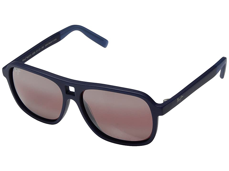 Maui Jim Little Maks (Matte Blue) Athletic Performance Sport Sunglasses