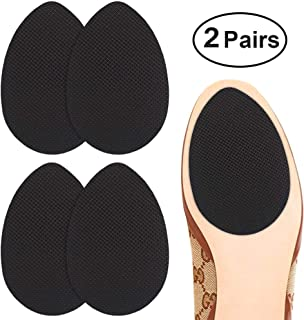 Dr. Shoesert Non-Slip Shoes Pads Adhesive Shoe Sole Protectors, High Heels Anti-Slip Shoe Grips (Black)