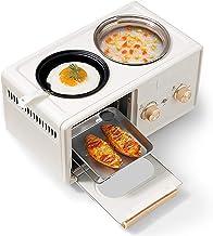 Horno de la máquina de desayuno 3 en 1, máquina de cocción multifuncional para el hogar Mini tostadora horno, temporizador de 60 minutos, 1350W, protección contra sobrecalentamiento ( Color : Beige )