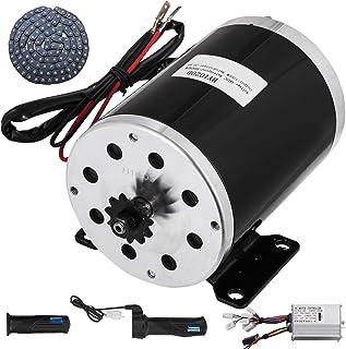 Mophorn Motor Eléctrico 48V 1000W Imán Permanente Cepillado DC Aceleración Controlador