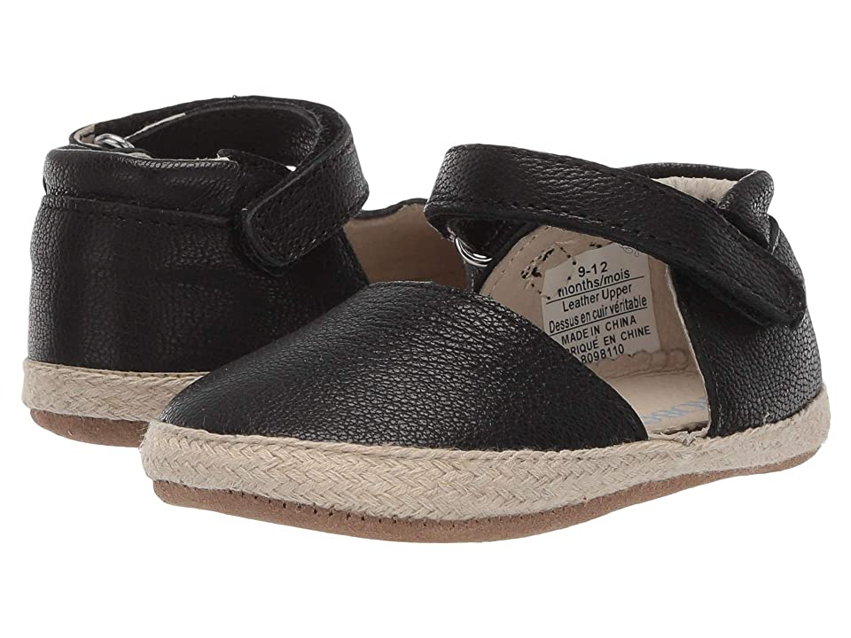 Robeez Kelly Espadrille First Kicks (Infant/Toddler) (Black) Girl