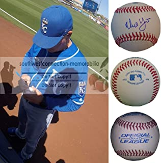 Ned Yost Kansas City Royals Autographed Hand Signed Baseball with Exact Proof Photo of Signing, Milwaukee Brewers, Texas Rangers, Montreal Expos, COA
