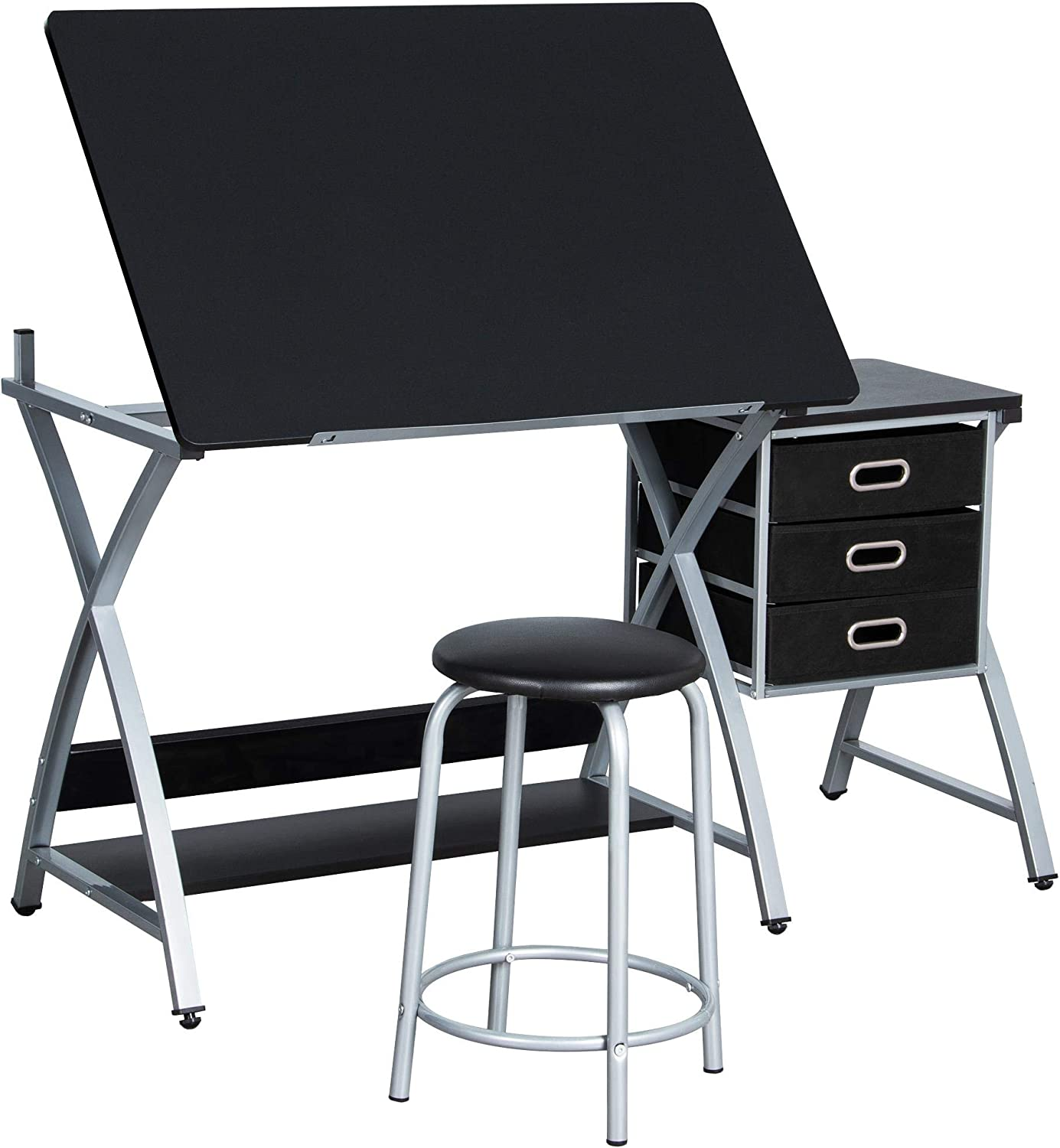 Topeakmart Dallas Mall Drafting Tables Height Drawing Max 67% OFF Desk Adjustable Draft