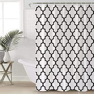 Anmevor Waterproof Polyester Shower Curtain,Stone Moroccan Trellis 72