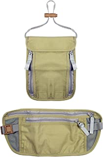 2 Piece Travel Pouch Set, 11.5x5.5 & 7x5, with Two Zipper Pockets