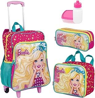Kit Mochila Infantil Barbie 19M Plus Lancheira Estojo Sestini