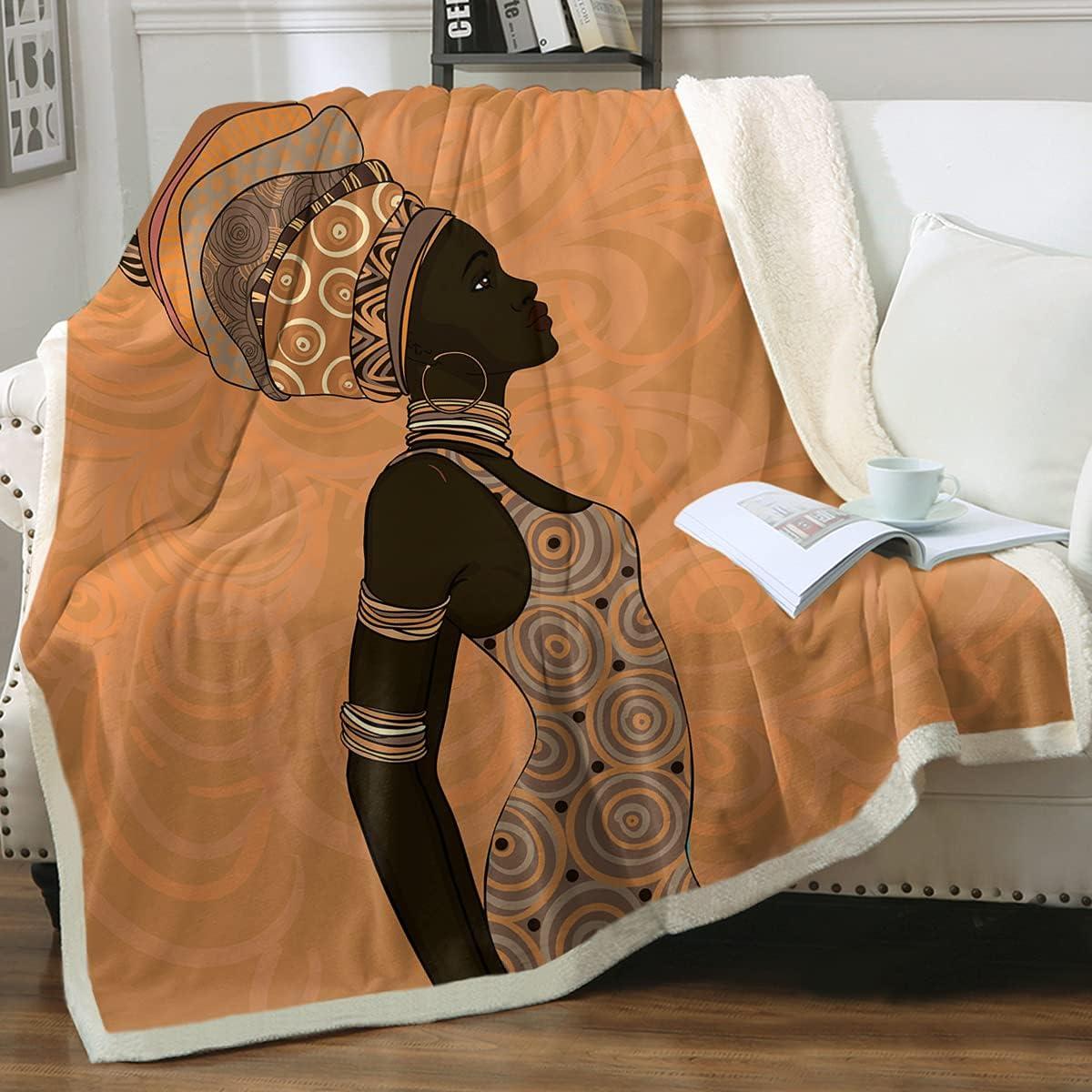 Sleepwish Black Popular product Woman Plush Throw Soft Blanket Super popular specialty store Afr Fuzzy