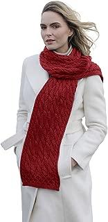 SuperSoft Merino Wool Cable Knit Irish Scarf
