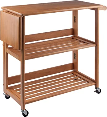 Winsome Radley Kitchen Cart, Light Oak