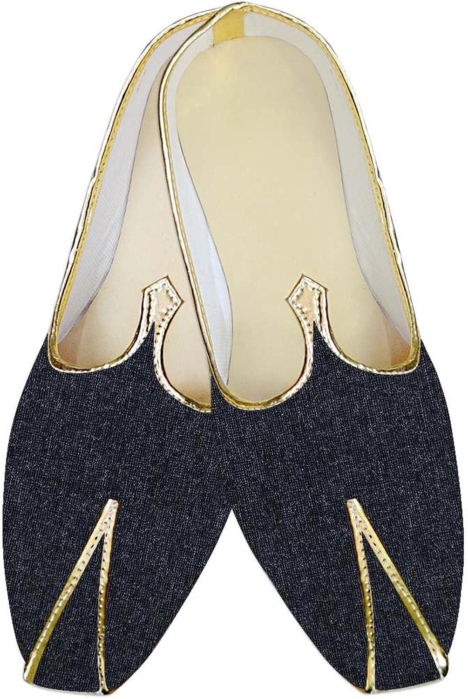 INMONARCH Mens Dark Navy Wedding shoes Handmade MJ015706