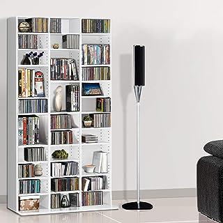 Artiss Adjustable CD DVD Book Storage Shelf White