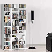 Artiss Adjustable CD DVD Book Storage Shelf White
