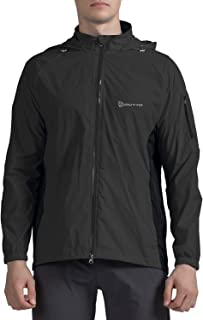 Outto Men's Lightweight Jacket Rain Resistant UV Protection Quick Drying Windproof Skin Coat