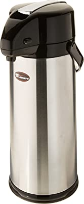 Winco Glass Lined Airpot, 3-Liter, Lever Top