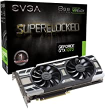 EVGA GeForce GTX 1070 SC GAMING ACX 3.0, 8GB GDDR5, LED, DX12 OSD Support (PXOC) Graphics Card 08G-P4-6173-KR (Renewed)