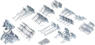 Triton Products LH2-Kit LocHook 63 Piece Zinc Plated Steel Hook Assortment for LocBoard