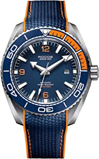 ROCOS Watches for Men - Pro Diver Watch - Sports Watch for Men with Screw Down Crown for 10ATM of Water Resistance - Analog Dial, Automatic Movement - Mens Watches Collection - R0146