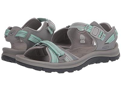 KEEN Terradora II Open Toe Sandal (Light Gray/Ocean Wave) Women