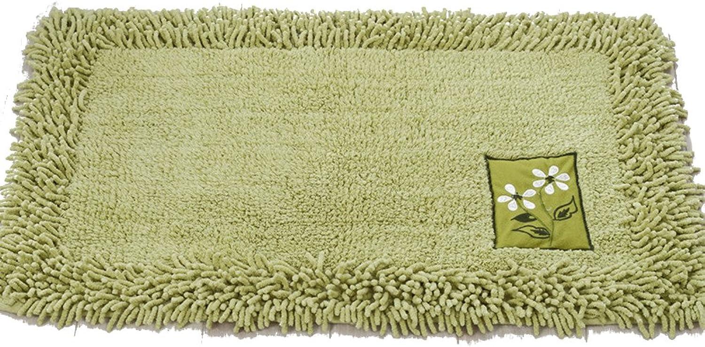 Chenille Bedroom Carpet, Soft Cozy Non-Slip Mat, Strong Water Absorption, Bathroom Kitchen Balcony Doorway-C 60x90cm(24x35inch)