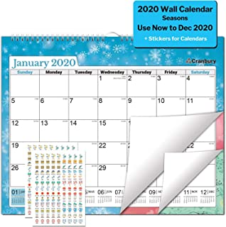 Large Wall Calendar 2020 Calendar (Seasons) 15x11.5 Calendars for Wall, with Stickers for Calendars, for Family and Office, 2020 Monthly Calender Use to December 2020, Calendars by Cranbury