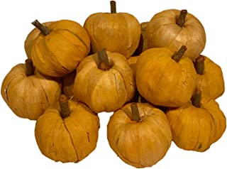 Artificial Small Pumpkins Decorating for Fall, Thanksgiving, Harvest Decor for Table Autumn Decorations for Home or Farmhouse Fall Decor (15 Small Pumpkins)