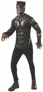 Rubie's Men's Black Panther Costume Top Set