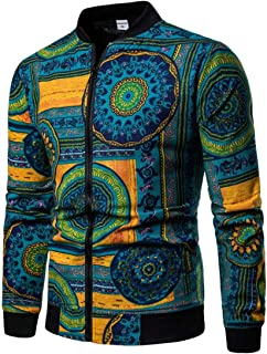 african print bomber jacket men
