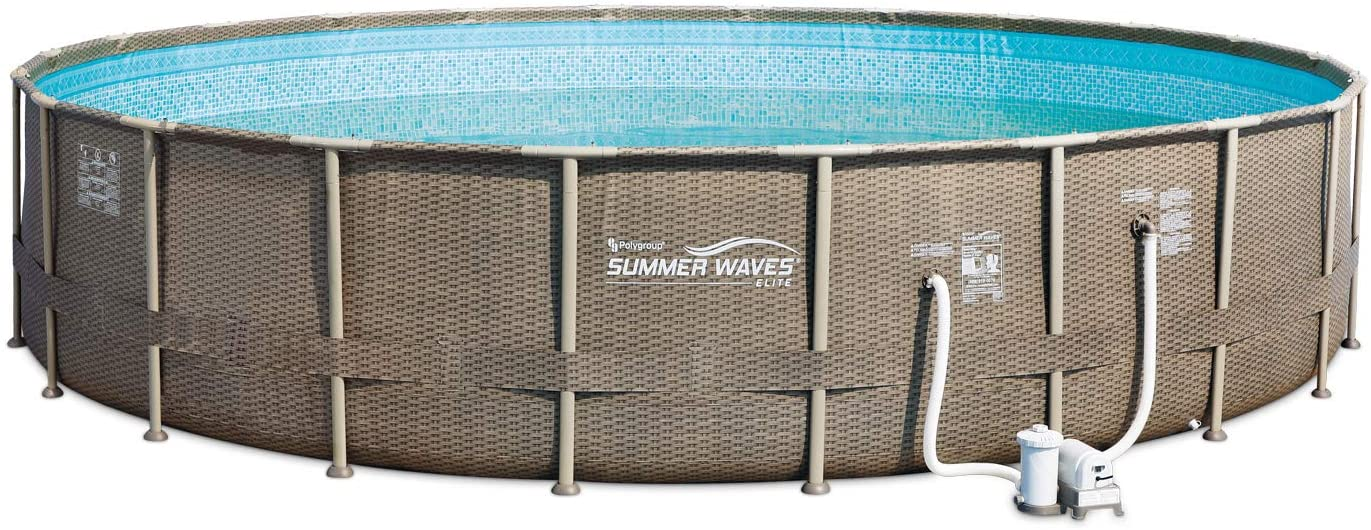 Summer Phoenix Mall Waves 22ft x 52in Elite Wicker Ground S Frame Super beauty product restock quality top Round Above