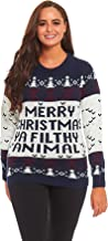 Unisex Women's Ugly Christmas Sweater Knitted Ho Ho Home Alone Funny Classic Novelty Ugly Sweater